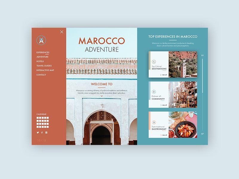 Morocco Travel - Web Design Concepts