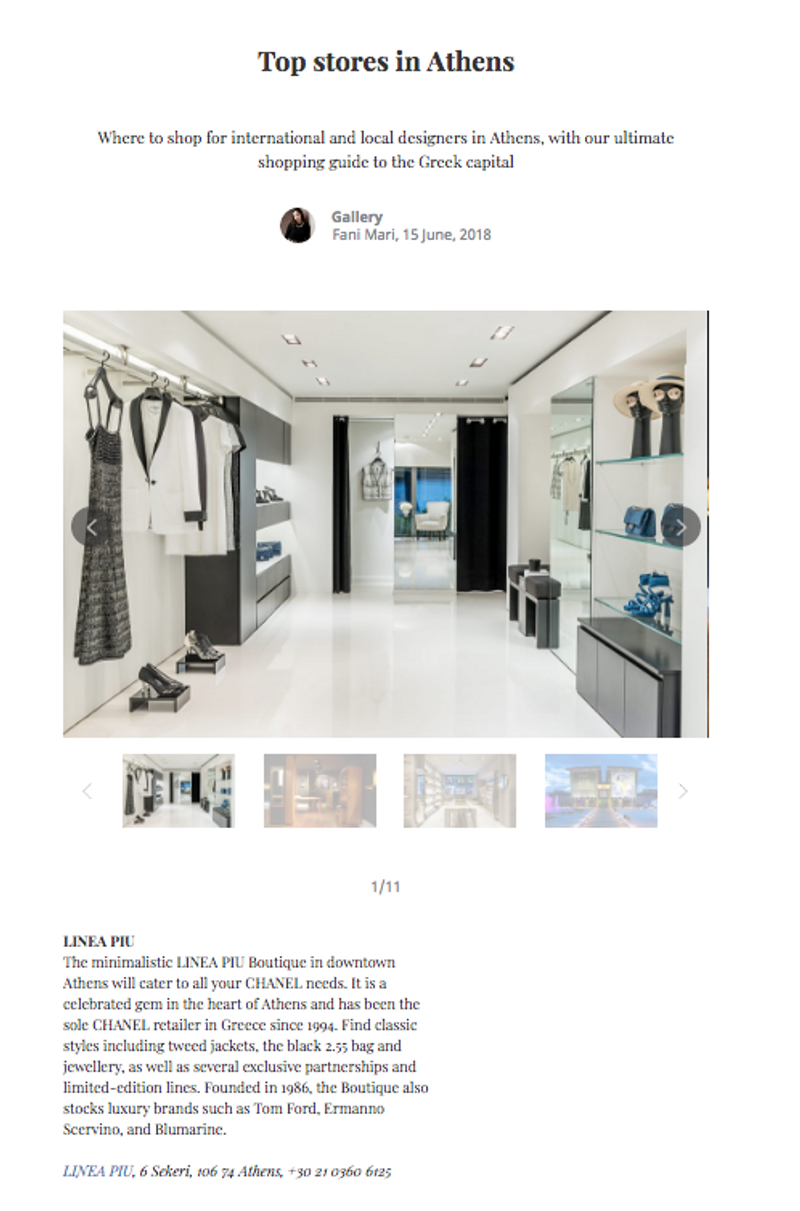 Top Boutiques in Athens