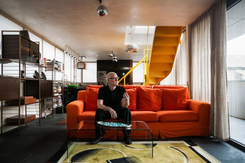 My Modern House: Photographer Jonathan Root's retro interiors in a converted piano factory in Camden