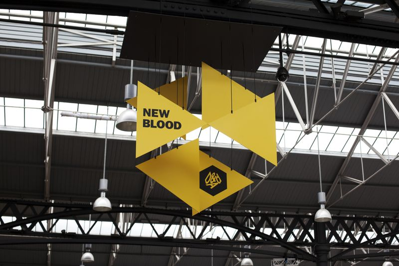 D&AD New Blood Exhibition Branding