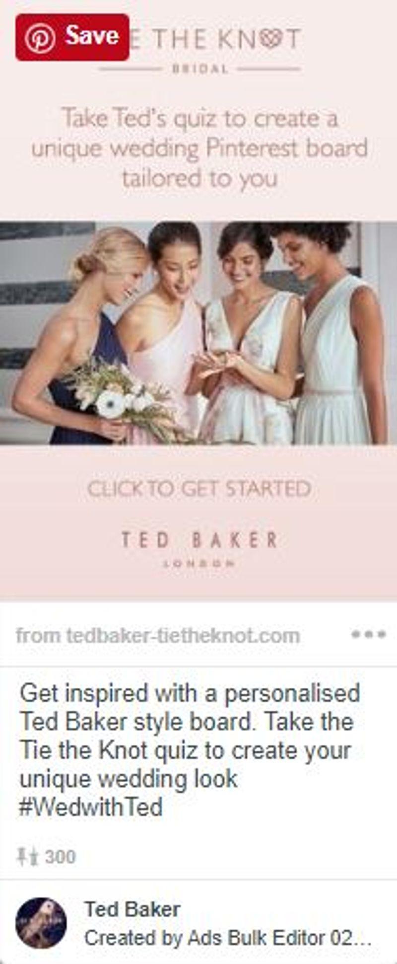 Ted Baker x Pinterest Partnership