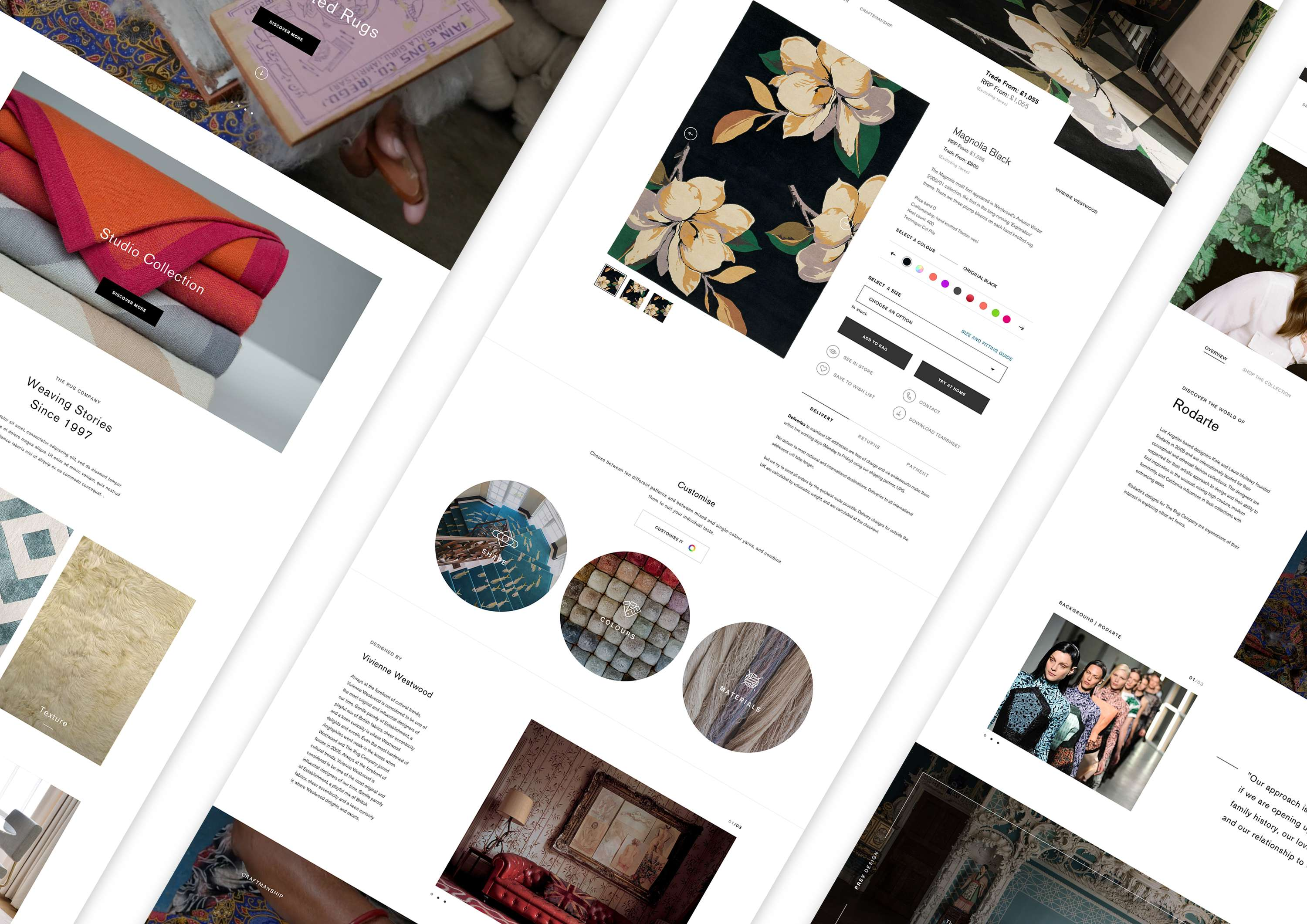 The Site Had To Be Designed And Developed In A Very Short 4 ½ Month Timeframe Coincide With Launch Of Rug Company S Well Publicised Collaboration