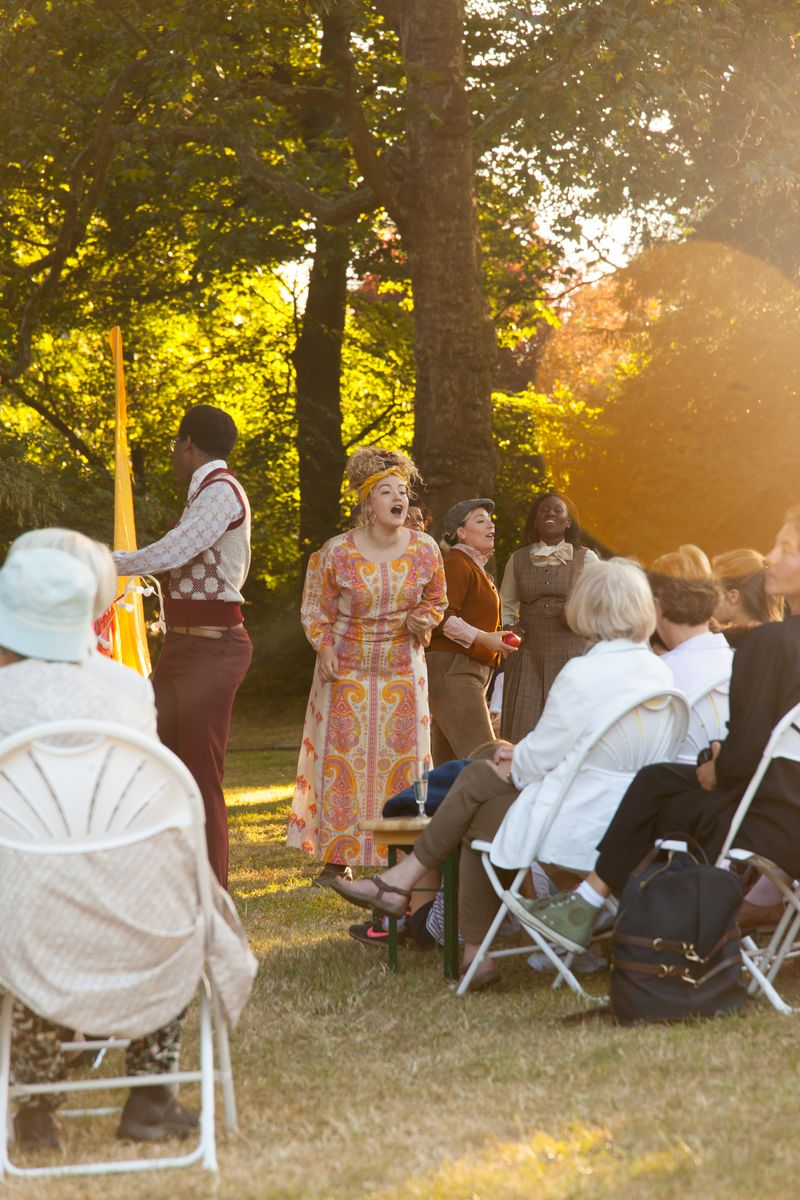 Shakespeare in the Squares: 70's picnic area