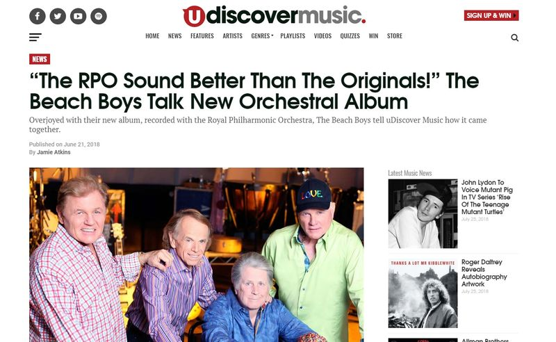 The Beach Boys interview, Udiscover, June 2018