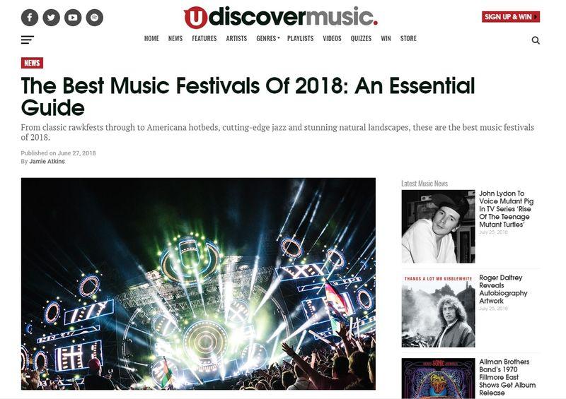 Festival Guide 2018, Udiscover