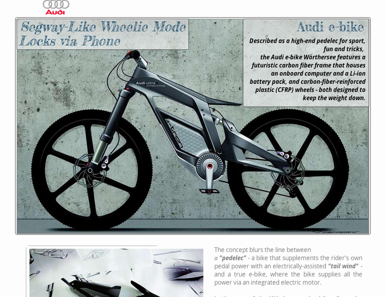 Website DesignAudi Ebike The Dots - Audi e bike