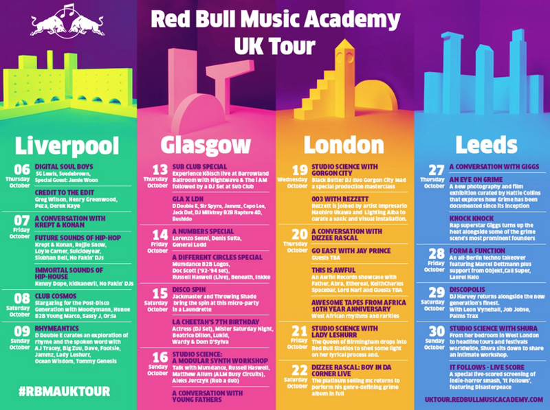 Red Bull Music Academy UK Tour