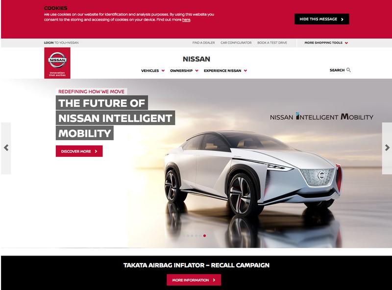 Nissan Website Launch