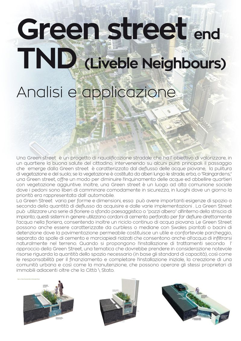 "Urban analysis ""Green street and TND"""