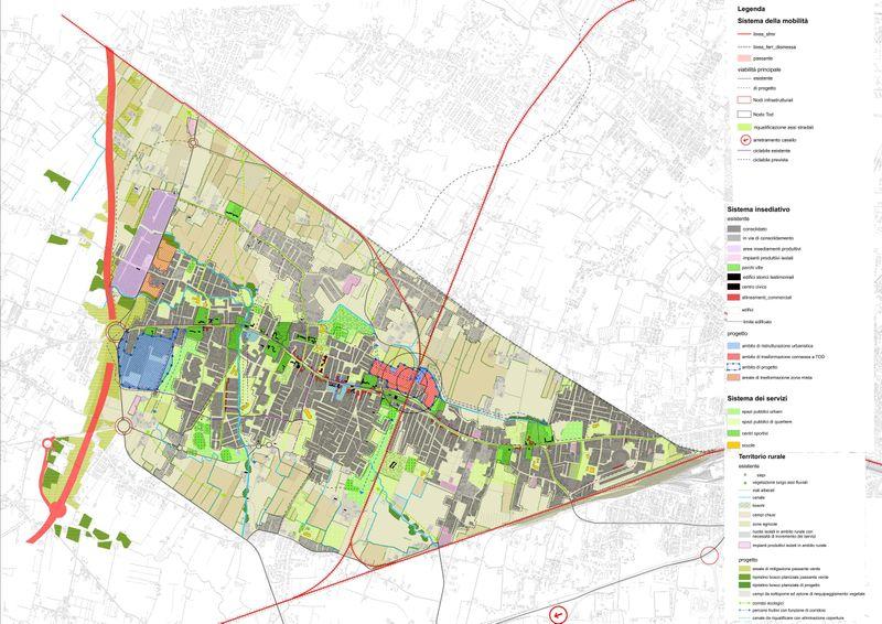 """Urban analysis Master Plan """"Quarto d'Altino"""""""