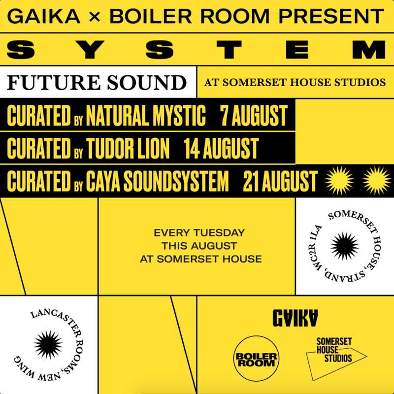 GAIKA X Boiler Room Present SYSTEM: Future Sounds