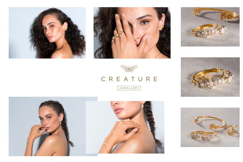 Campaing Photoshoot for Creature Jewellery by Lucy Watson