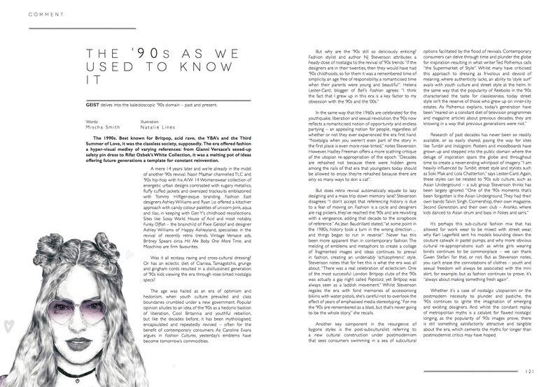 Published features for Geist magazine