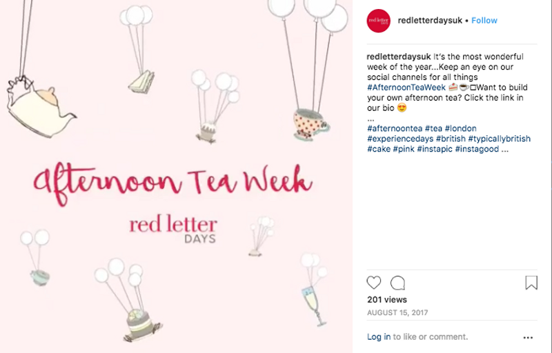 Red Letter Days social media campaigns
