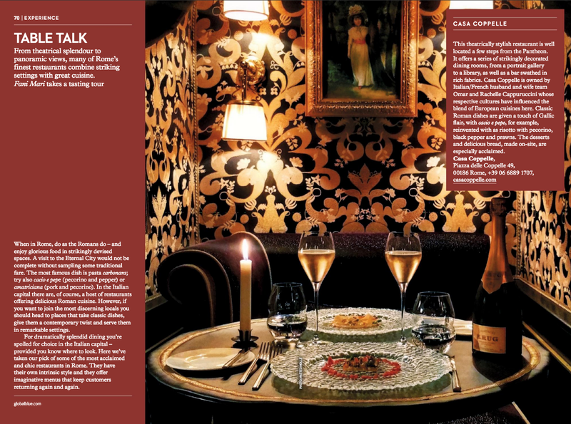 Rome Experience - Restaurants - SHOP magazine