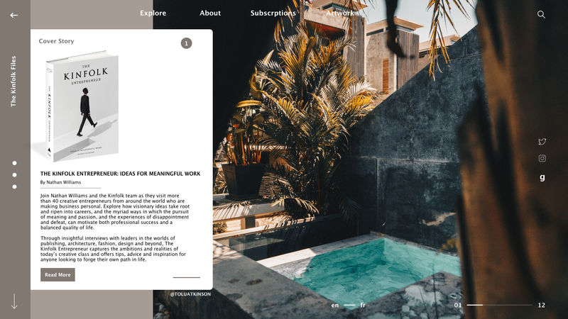 Landing Page for a Book