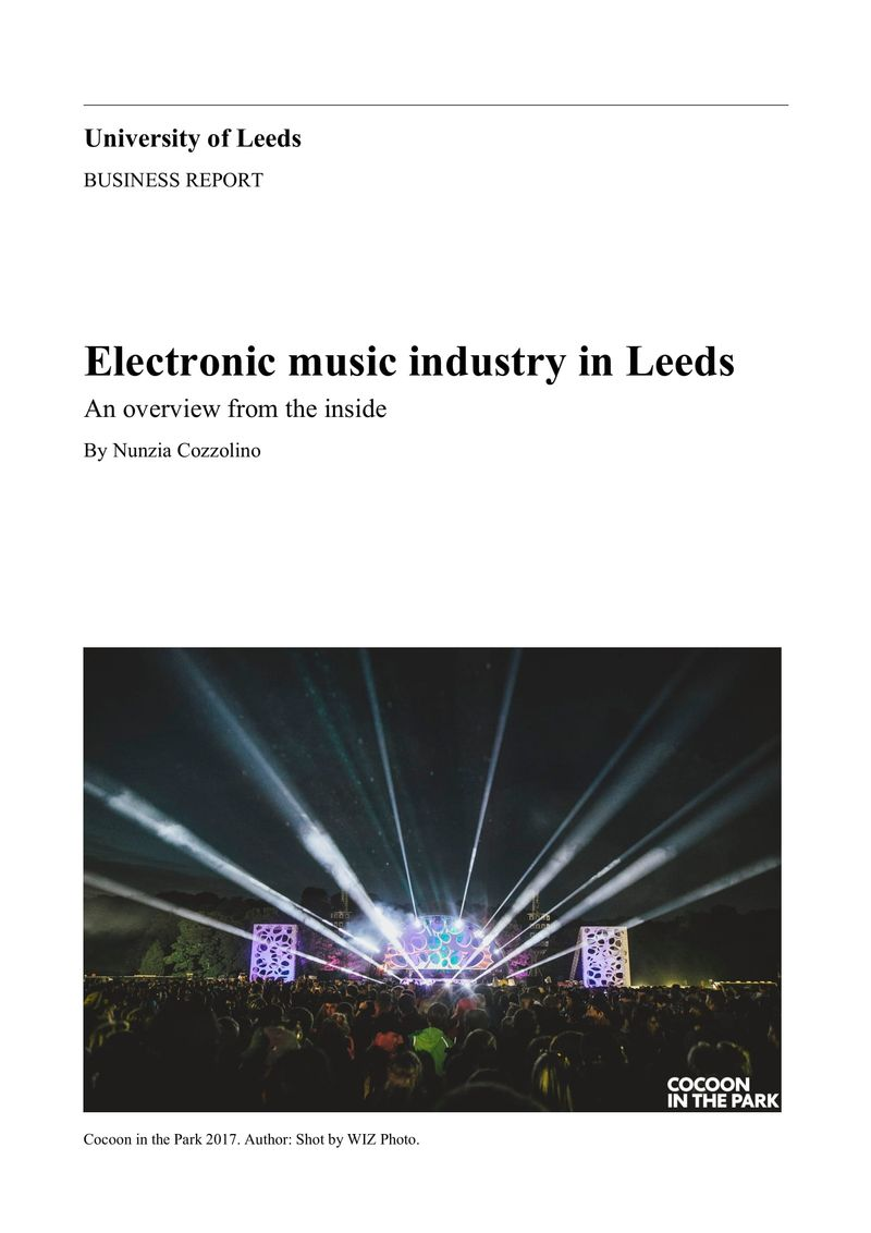 Electronic music industry in Leeds: an overview from the inside