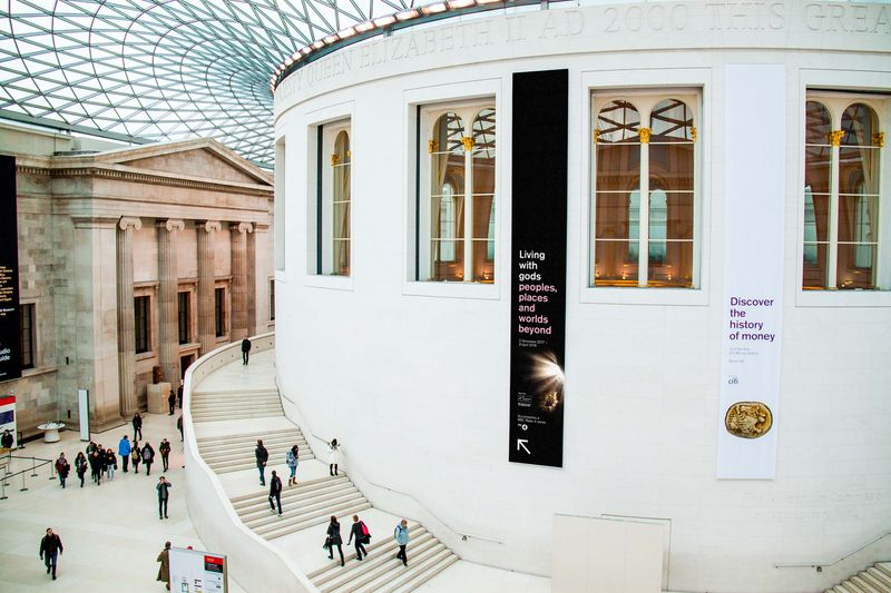 British Museum Living with gods exhibition collateral