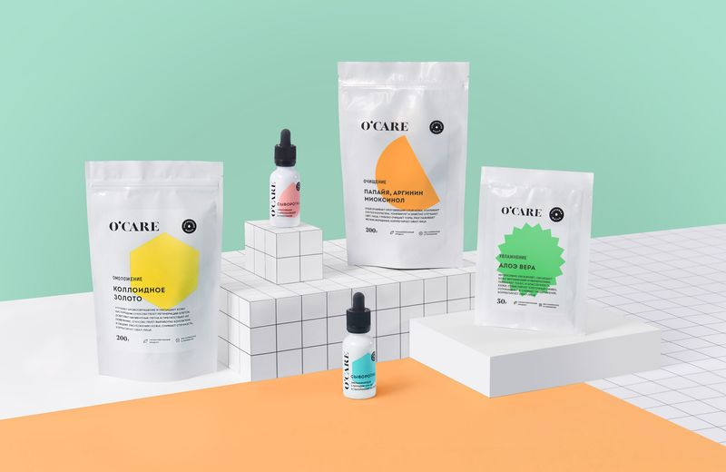 O'CARE identity for a new cosmetic brand