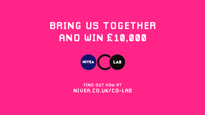 LIVE BRIEF: Calling all creatives! Pitch your techie ideas for NIVEA CO-LAB Challenge & win £10,000. Deadline: 3rd October