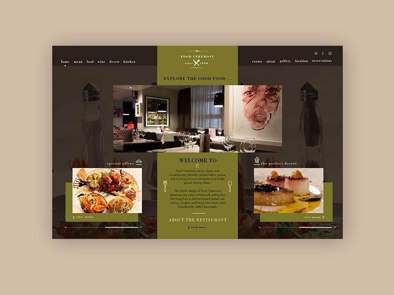 Restaurants & Food Website ► Web Design