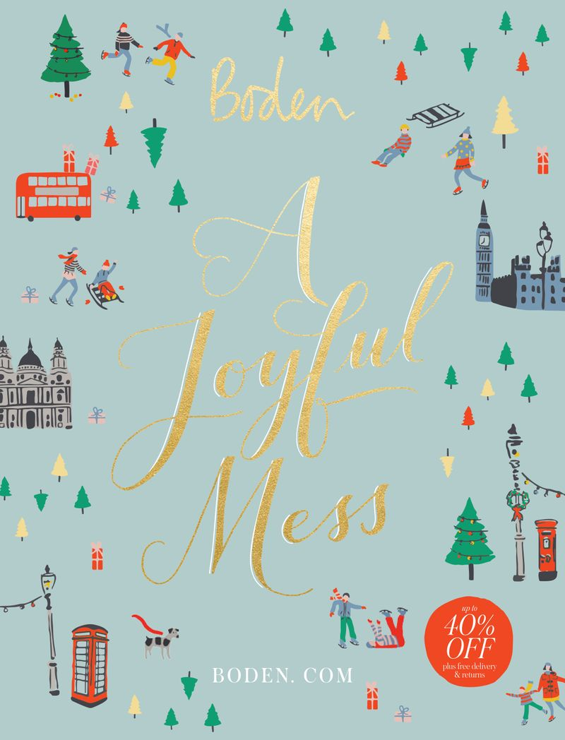 Boden Christmas campaign - A joyful mess