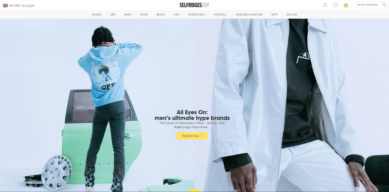 Selfridges - All Eyes On: Men's Ultimate Hype Brands Feature