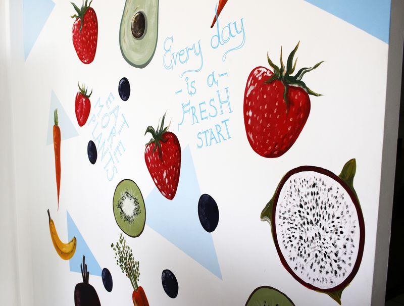 Organic Baby Food Store & Healthy Mural