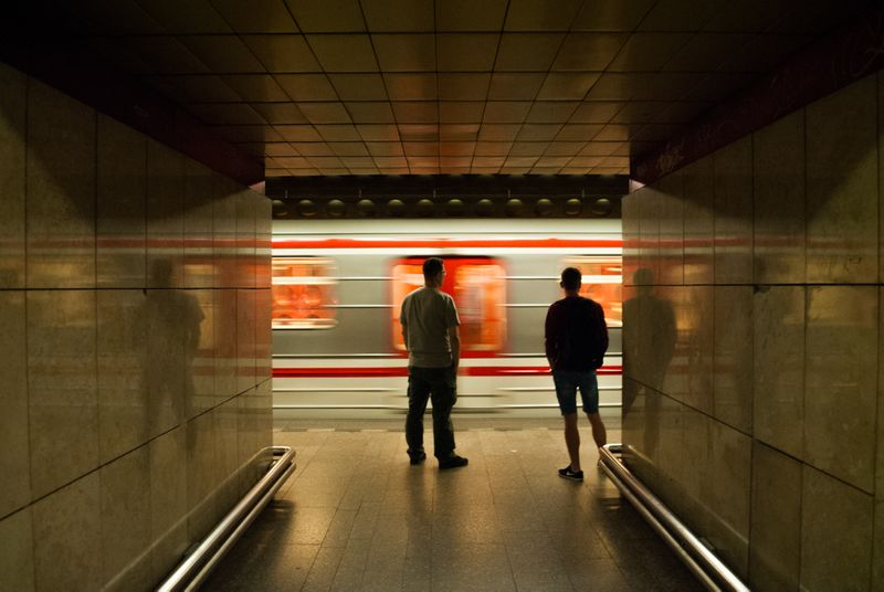 Prague metro is a total mood