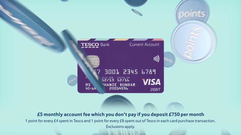 Tesco Bank 'Current Account' launch activity