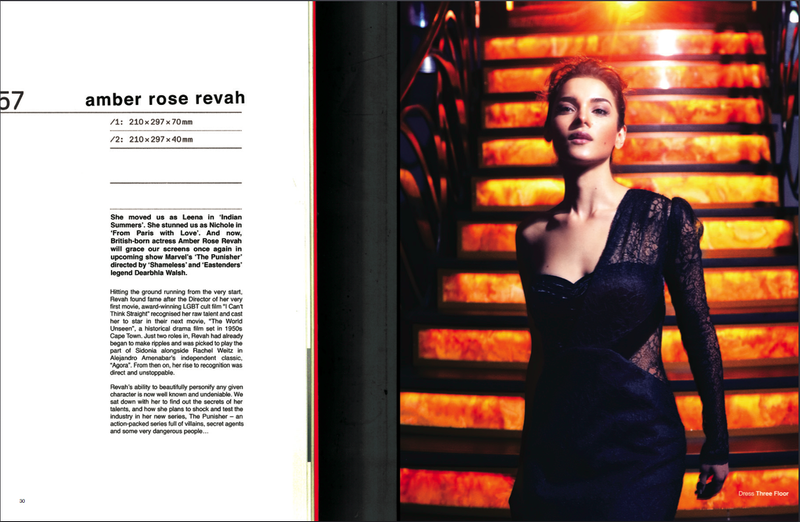 Double Page Spread Interview with Amber Rose Revah for 1883 Magazine
