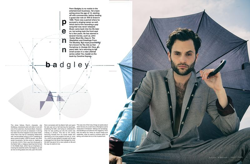 Penn Badgley Editorial Design