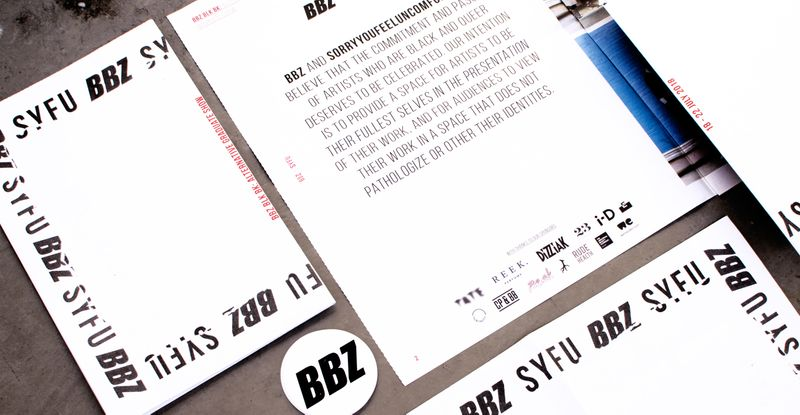 BBZ BLK BK: Alternative Graduate Show Zine