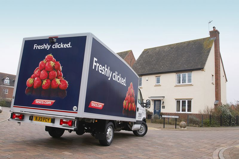 Tesco grocery delivery branding