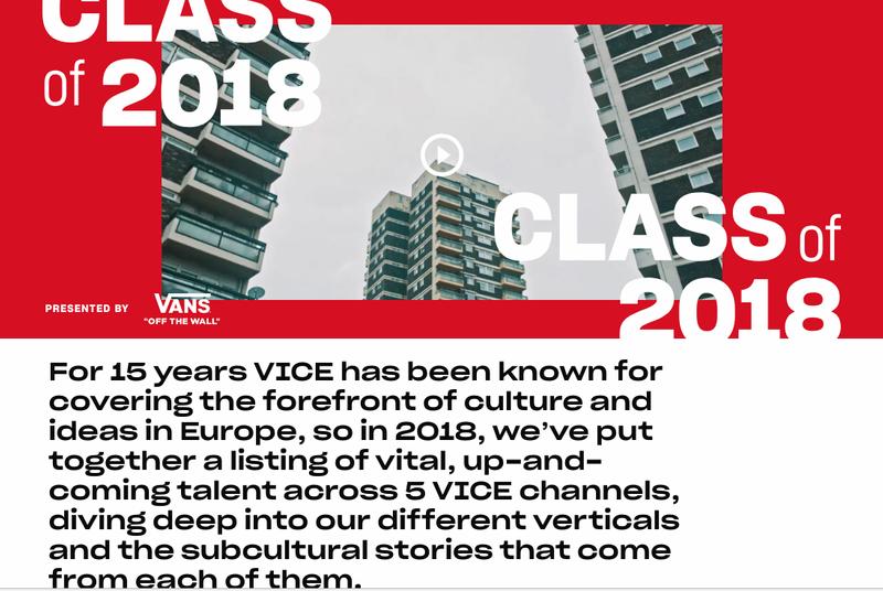 Class of 2018 - Vice x Vans