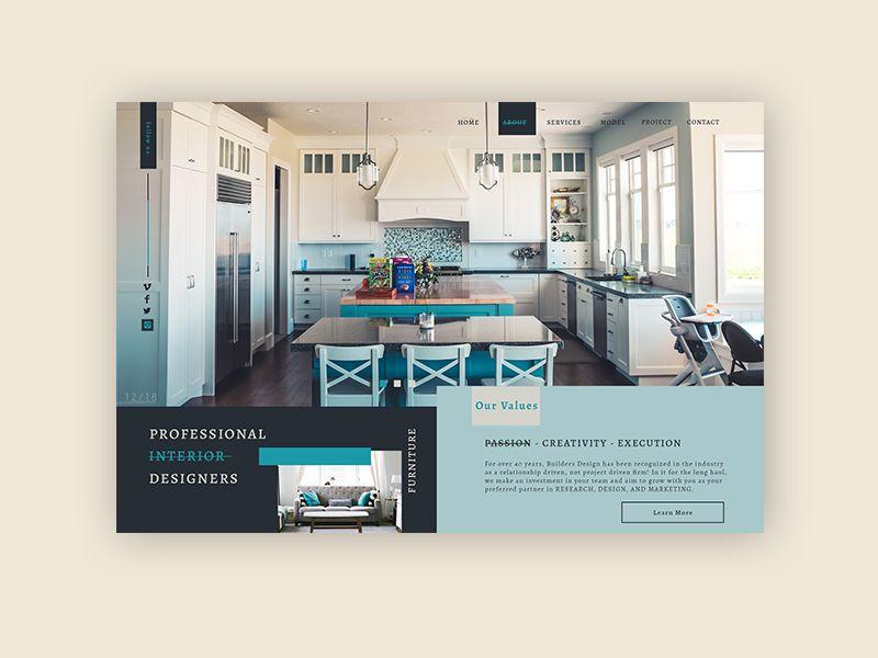 Residential interior design  ► Web Design