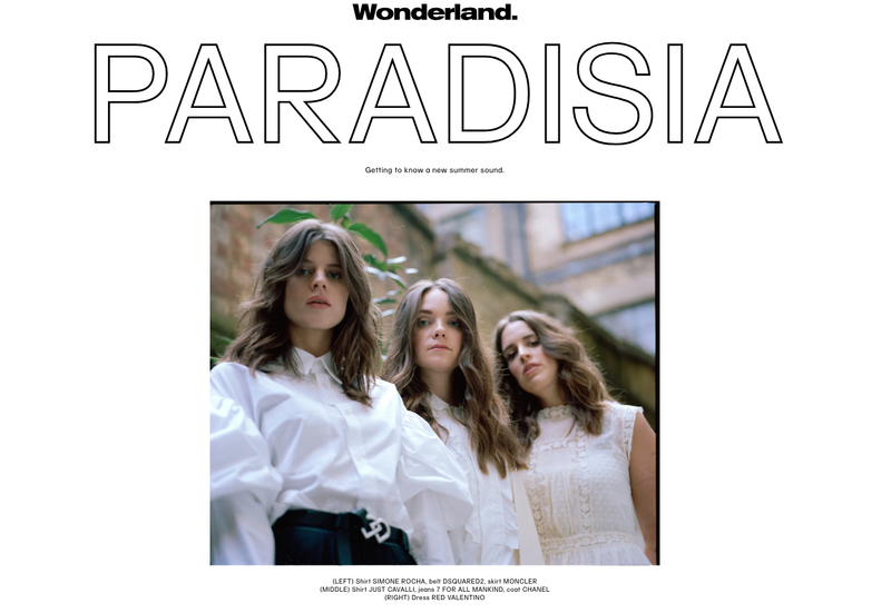 WONDERLAND MAGAZINE: PARADISIA