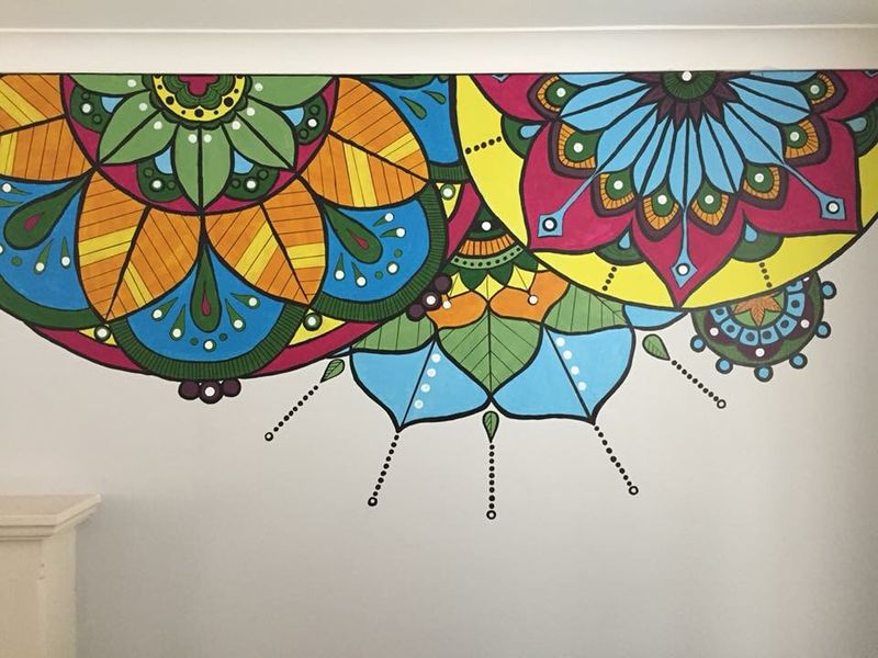 Mural: Colourful Mandala