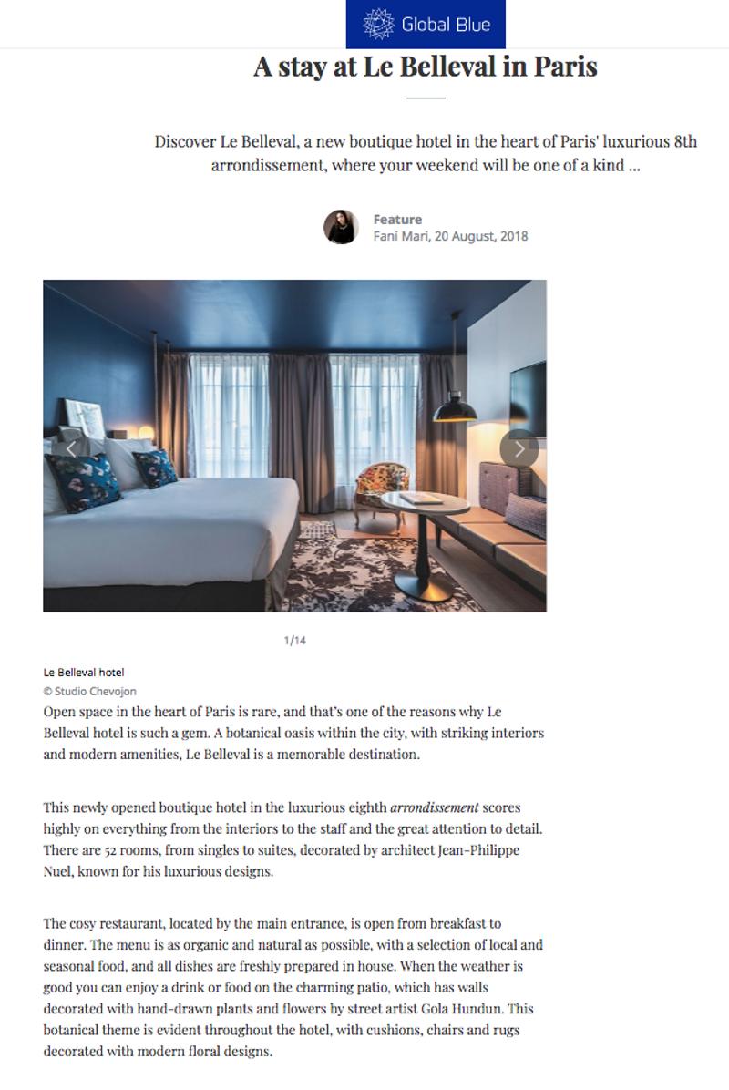 Le Belleval - Parisian hotel review
