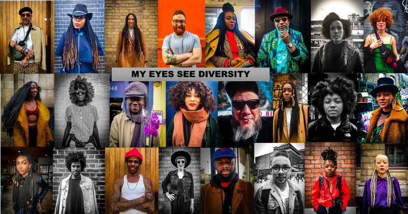 My Eyes See Diversity - Street Portrait Photography Project and Exhibition