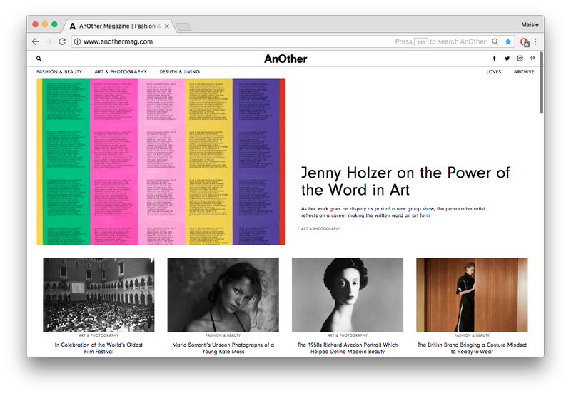 anothermag.com Redesign