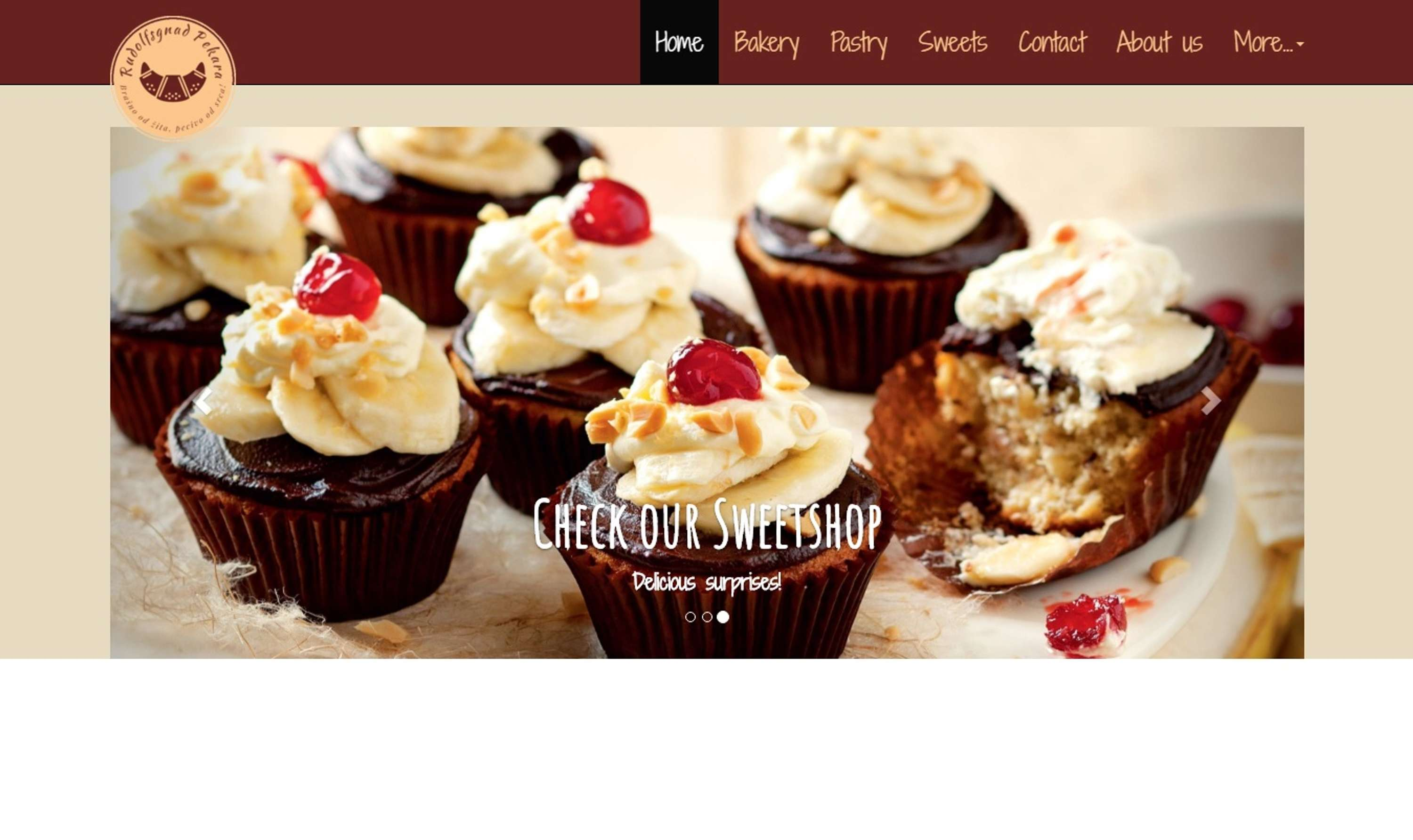 Bakery store - website | The Dots