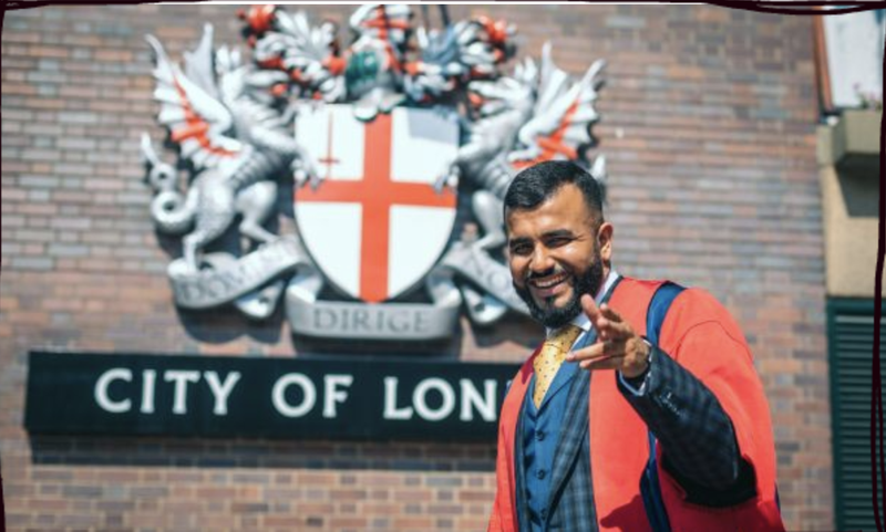 Samaritans Ambassador Hussain Manawer becomes Kings College London's youngest Honorary Fellow