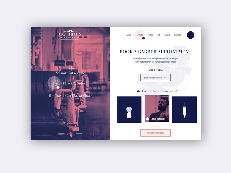 Barber Shop ► Web Design