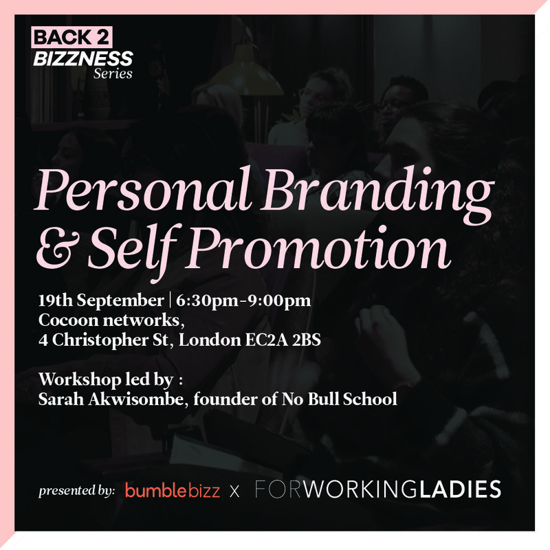 Personal Branding & Self Promotion workshop