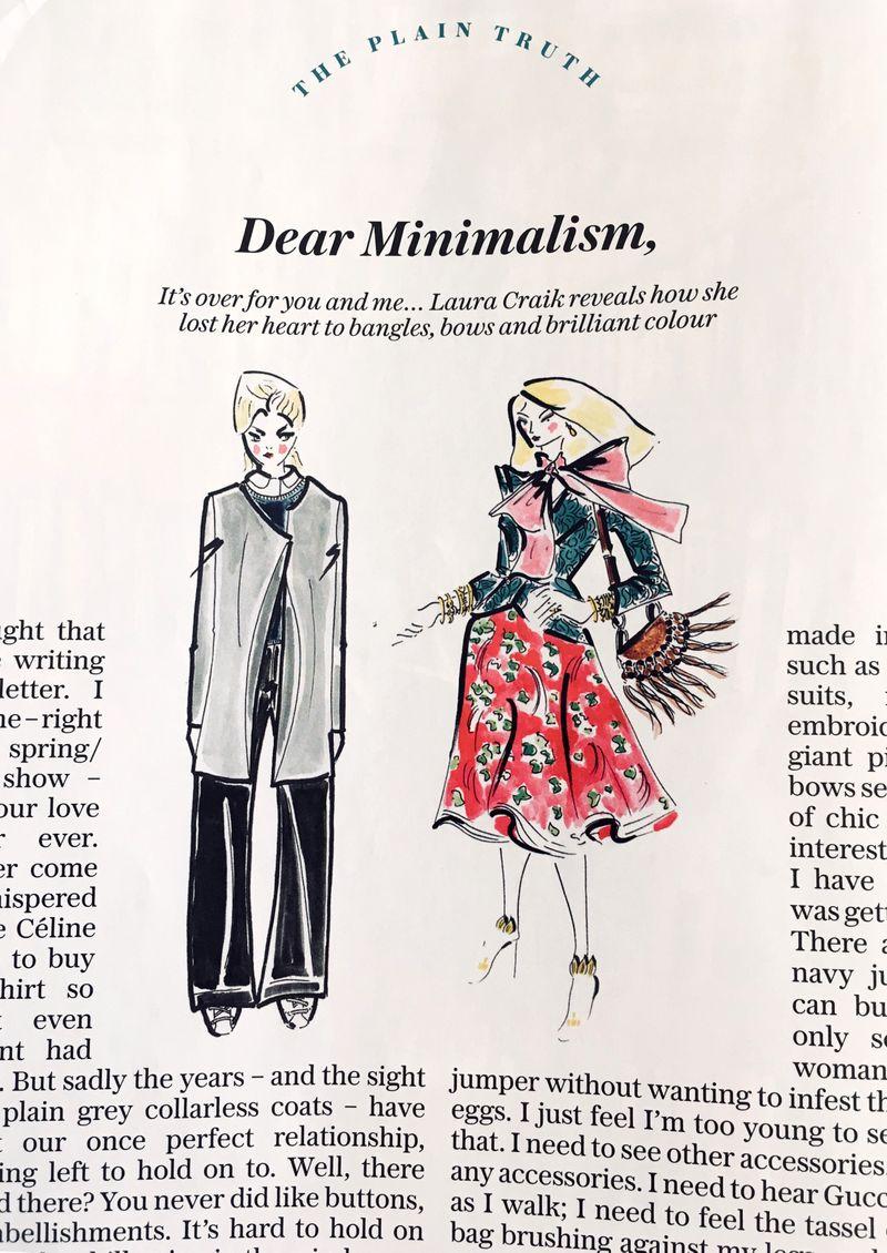 dear minimalism