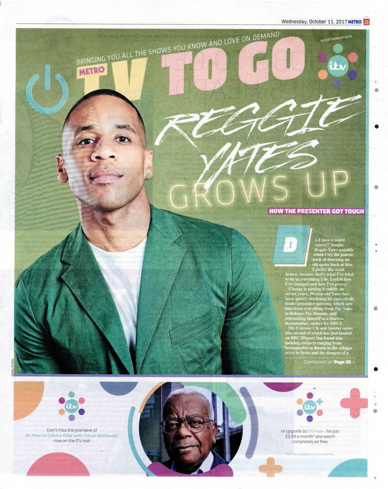 Reggie Yates - Press Shoot