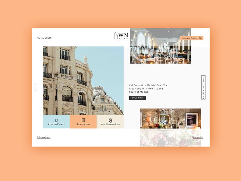 Hotel Group Homepage Animation