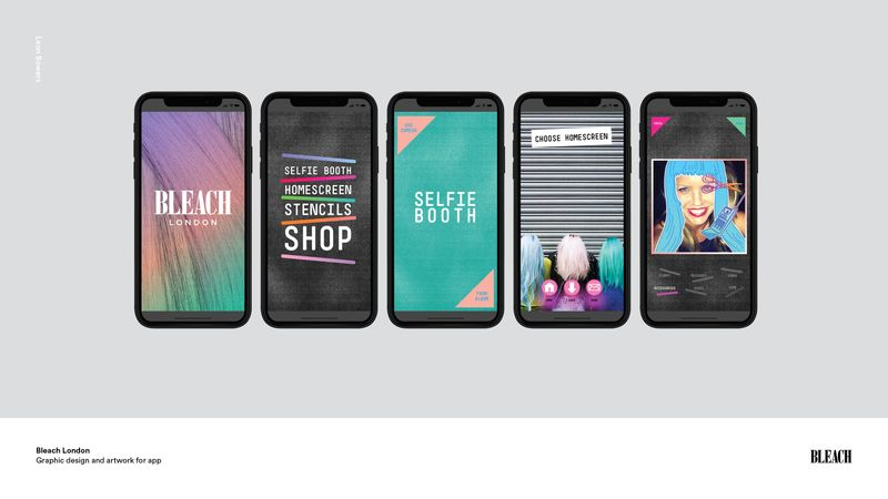 Bleach London - App design