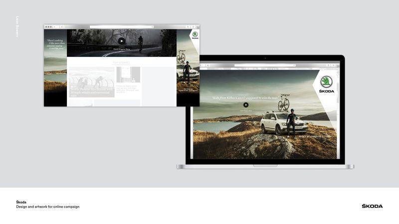 Škoda print and digital advertising